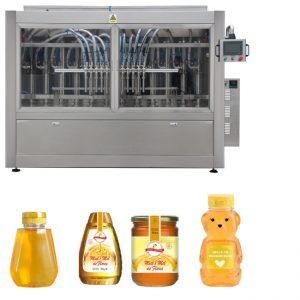 Аутоматски серво клип тип сос џем од меда Висока вискозност, течност пуњење капица са етикетирањем линија машина